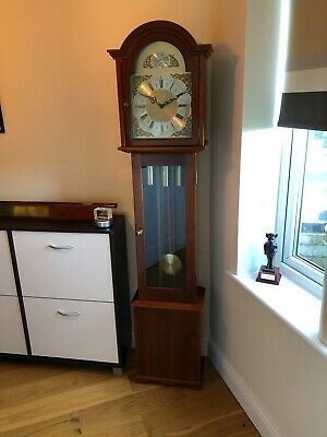 Tempus Fugit Grandmother Clock with Westminster Chime in Excellent Condition.