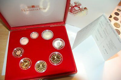1 Cent to 2 Monaco Official Currency Coin Set Proof in Case