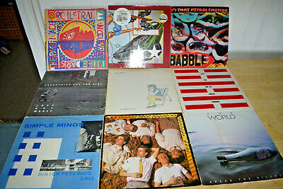 JOB LOT 9x 80's LP Collection Vinyl Records - NEW WAVE,  SYNTH POP,  ROCK