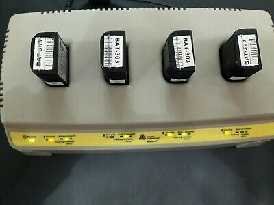 Avery Dennison Monarch charger & 10 batteries, use for ITE portable printers,