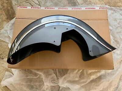 "Indian Motorcycle OEM Front Fender Skirted 14-20 heavyweight with 16"" wheel Gray"