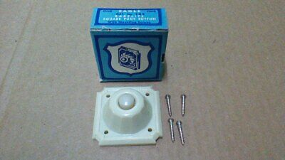 Eagle 143 Bakelite Square Push  Button / Ivory / With Mounting Screws