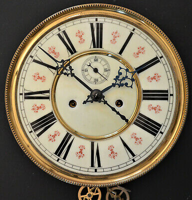 Excellent Striking Weight Driven Vienna Dial & Movement