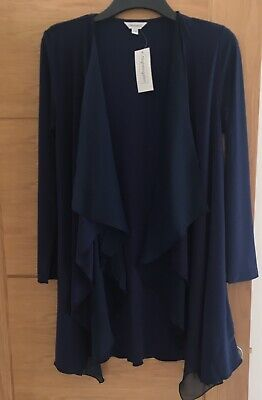 Navy Waterfall Jacket Size 10 Ideal Xmas Party, Cruise Special Occasion