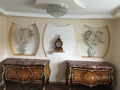 French Empire Louis Style Bombe Commode /chest Of Drawers