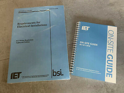 18th EDITION IET WIRING REGULATIONS & On Site Guide BS7671 2018 Wiring Regs BOOK