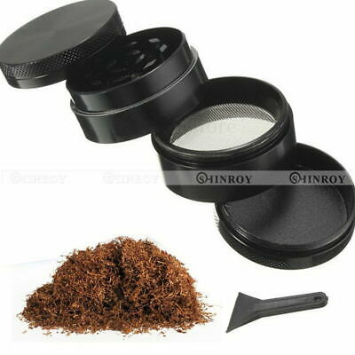 Zinc Alloy Tobacco Herb Spice Grinder 4 Layers Herbal Smoke Chromium Crusher