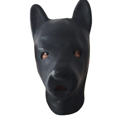 Latex dog Hood Fetish puppy Mask extra thickness 1.5mm to 2.0mm plus thickness