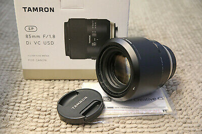Tamron SP 85mm F1.8 Di VC USD G2 Lens in Canon Fit (F016) - Mint condition
