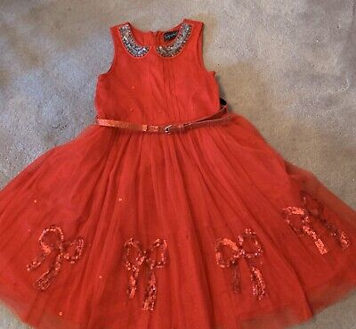 Girls Signature Next red Christmas party dress Size 7 years Great condition