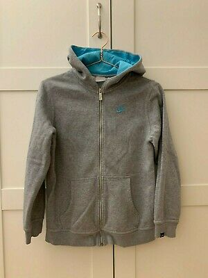 NIKE grey hoodie with turquoise hood inside size kids 152-158cm or size L