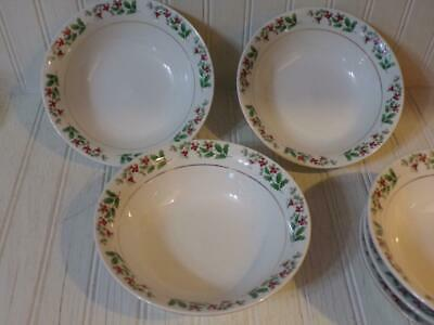 Gibson Everyday CHRISTMAS CHARM Set of 6 Soup Salad Cereal Bowls