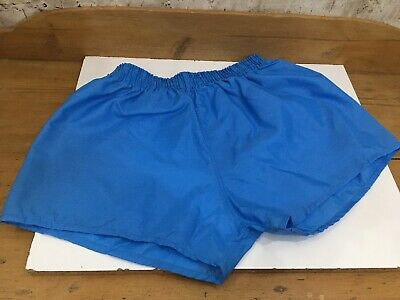 "Vintage 1980s Crisp Nylon Football PE Shorts Mens 40"" XL Waist Blue OG Falcon"