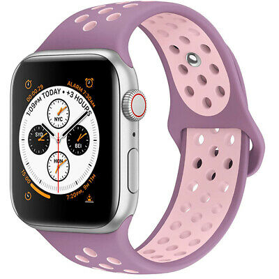 for Apple Watch iWatch Series 3 4 5 38/40/42/44mm Soft SILICONE Sport Strap Band