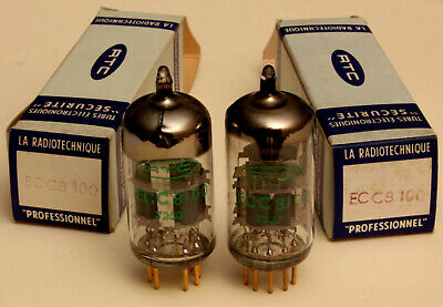 One Pair Of Ecc8100 Brand New Professional Triodes - Rtc - Gold Pins