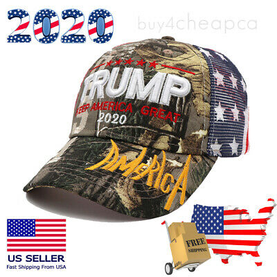 Trump 2020 MAGA Hat Keep Make America Great Again Mesh Camo Embroidered Cap US