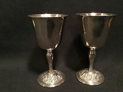 Gorham Silverplate Italian Provincial Repousse Goblets Yc98
