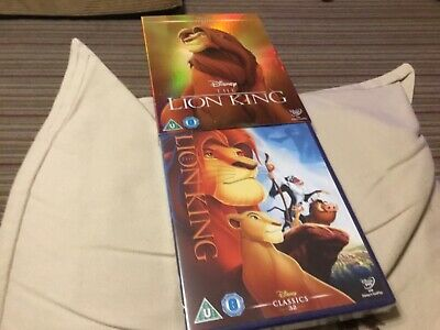 New Sealed The Lion King Disney DVD with Outer Slipcover Jeremy Irons, Rowan