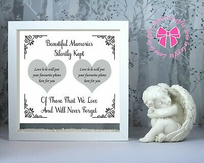 Remembrance personalised double photo frame gift for your missed loved ones.
