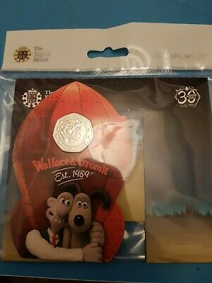 2019 Wallace & Gromit 50p Fifty Pence BU - BUnc - Royal Mint Coin Pack - Sealed