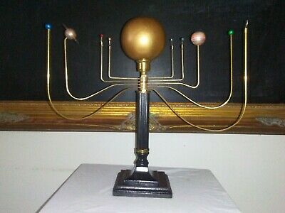 Antiqued orrery Solar system by South Carolina artist, Will S. Anderson