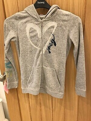 Girls Juicy Couture Tracksuit Top Grey Velour Age 12 Excellent Condition