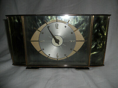 Vintage Retro METAMEC Mantle Clock Made in England 8 day movement 7 jewels