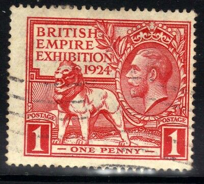 GB 1924 - 25 KGV 1d Scarlet British Empire Exhibition (1924) SG 430 ( E1353 )