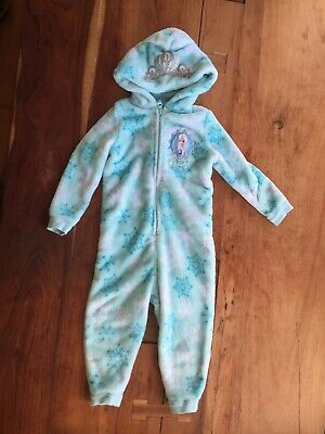 Frozen Elsa Cosy All-in-one Age 3-4 Sleepsuit Jammies Pj's