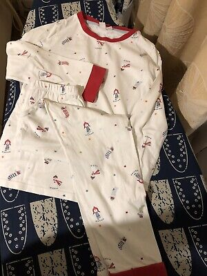 The Little White Company Snowman Christmas Pyjamas 7-8 Years