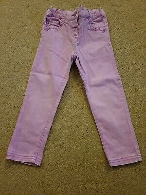 Girls Next Purple Skinny Jeans With Adjustable Waist Aged 2-3 Years
