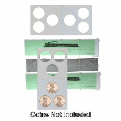 3 Hole - Penny/Cent Guardhouse 2x2 Mylar/Cardboard Coin Flips, 300 pack