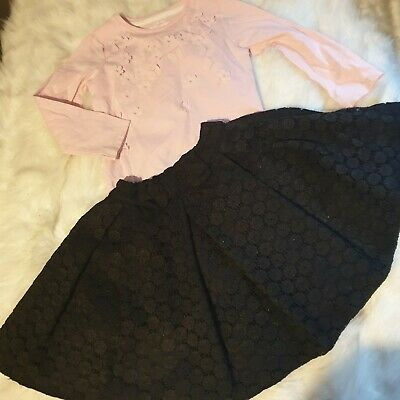 Girls 3-4 years long sleeve Top & tutu Skirt floral outfit bundle Next day