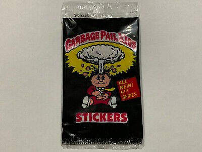 1987 UK Garbage Pail Kids 5th Series PACK : WITHOUT Text (0-222-0-7) - Rare