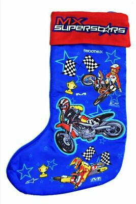 CLOSEOUT MX Superstars Motocross-Inspired Christmas Stocking, Blue & Red