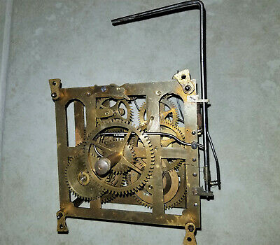 Antique Early pinned Straight bar Cuckoo Clock movement for repairs