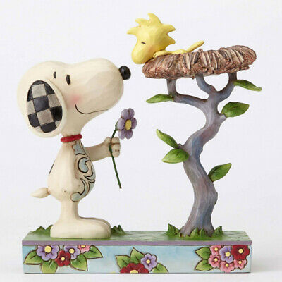 Jim Shore Peanuts 4054079 Snoopy Snoopy with Woodstock in Nest New 2016. Enesco