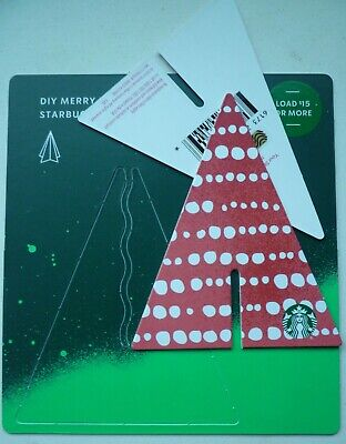 STARBUCKS CARD CHRISTMAS HOLIDAY  'MERRY LITTLE TREE' 2019  #6173 w/ ASTERISK *