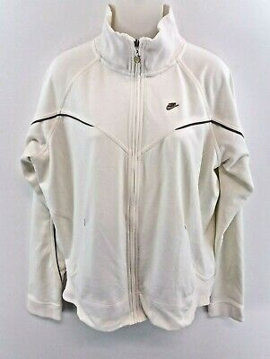 NIKE Womens Tracksuit Top Track Jacket 16/18 XL White Polyester