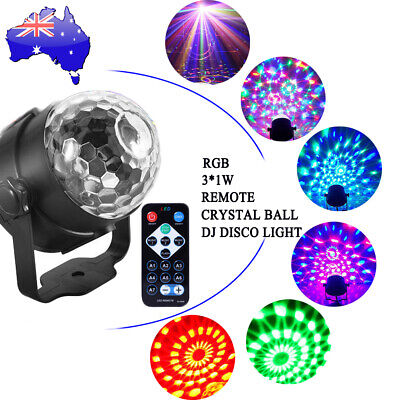 Crystal Magic Ball Disco Party DJ LED RGB Stage Effect Light Lamp Wedding Xmas