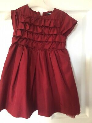 Beautiful Girls Age 3 Christmas Party Red Dress-Gap