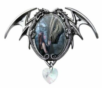 ANNE STOKES CAMEO PENDANT ONCE UPON A TIME Features Dragon & Maiden - NEW IN BOX