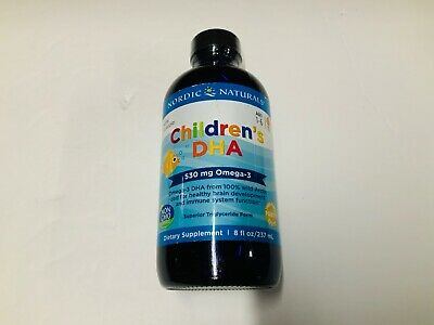 Nordic Naturals Children's DHA Liquid - Omega-3 DHA Fish Oil Supplement BB 4/22