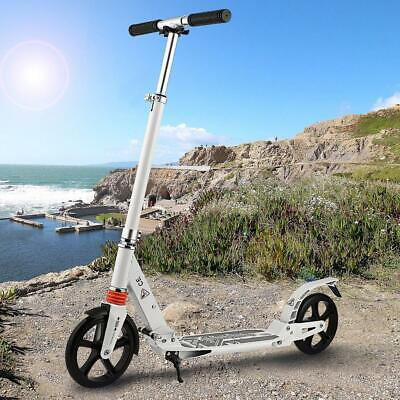 Ancheer Adult Folding T-Style 3 Levels Kick Scooter Big Wheels Adjustable Height