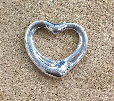 AUTHENTIC TIFFANY AND CO. Elsa Peretti Open Heart Pendant