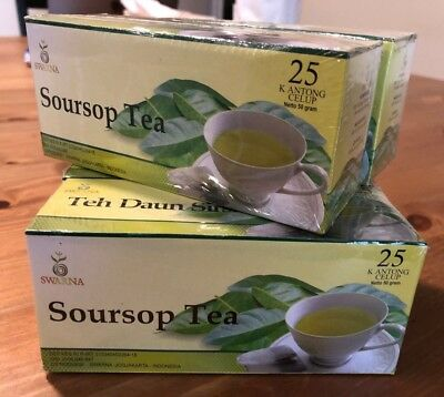 Soursop Teabags (Graviola Tea) 5 boxes / 125 bags