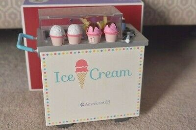 American Girl Doll Ice Cream Cart+Accessories+Box~MYAG Julie Blaire~Excellent!