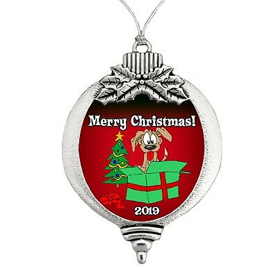 Happy Pup Christmas Ornament 2019 NEW Keepsake