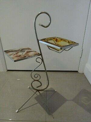 Vintage/Retro Ashtray Stand With Shelf - Pick Up From Geelong