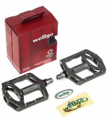 """Wellgo MG6 Magnesium 9//16/"""" Bicycle Bike Pedals Sealed Bearing For MTB DH BMX"""